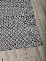Braid Hive charcoal flatweave rug in pure wool
