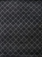 Nordic diamoad patterned rug overhead
