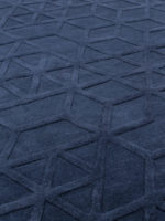 Lima navy blue handtufted contemporary rug design in pure wool detailed image