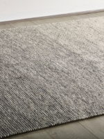Braid ombre flatweave designer rug in pure wool life style image