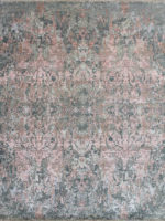 Hamburg luxury handknot rug in pinks sand greys