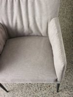 Erica Dining Chair wit slouch fit fabric detail