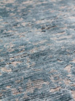 Montreal Silver Blue handknot rug collection detail