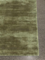 Glitz luxury artsilk rug in olive green by The Rug Collection