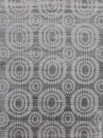 Vienna dark Grey Handloom contemporary floral rug overhead