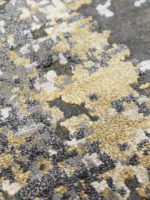 Mars luxury handknot rug in gold made from nz wool and artsilk close up image