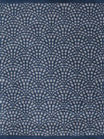 Cobblestone navy blue and grey handtufted wool rug overhead image
