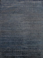luxury glasgow handknot rug in ink blue made from new zealand wool overhead
