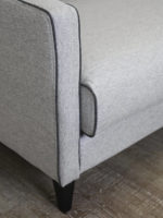 Camille Sofa light grey felt fabric lounge with contrast piping detail image