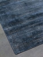 Denver Denim blue speckled two-tone rug corner image