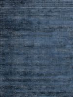 Denver Denim blue speckled two-tone rug overhead image