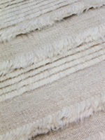 Pompeii Ivory handknotted wool textured rug detail image