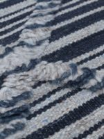 Salerno Blue handknotted wool rug detail image