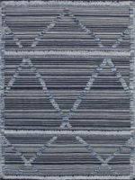 Salerno Blue handknotted wool rug overhead image