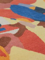 Spectrum abstract multicolour rug detail image
