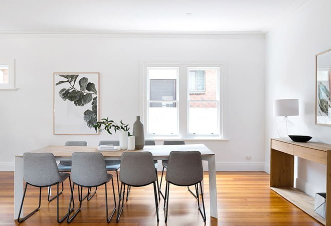 The Urbane Property Stylist interior design of dining room