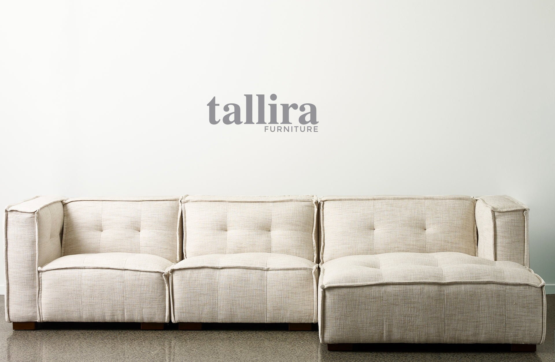 Tallira furniture by the rug collection Sienna Sofa in Natual colour