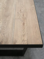 Carter Dining table in smoked oak detailed view