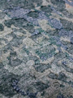 Kowloon Green luxury handknot rug close up detail image