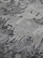 Lisbon Grey luxury handknot rug close up detail image