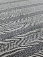 Toledo Black and White rug handloom knotted in wool and bamboo silk
